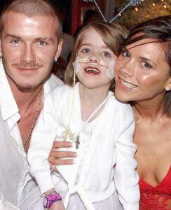 2002- Performing at the Angel Ball with David & Victoria Beckham