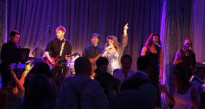 Diane and her band supporting Sister Sledge in London