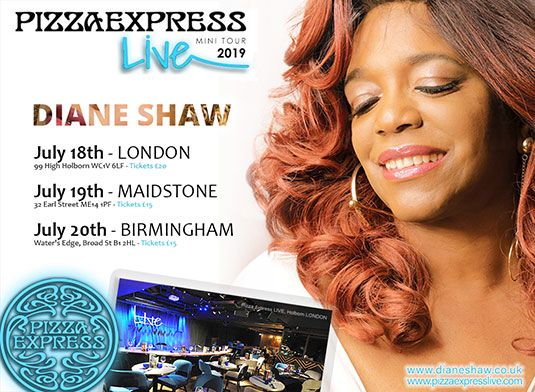 Diane Shaw Pizza Express Tour 2019